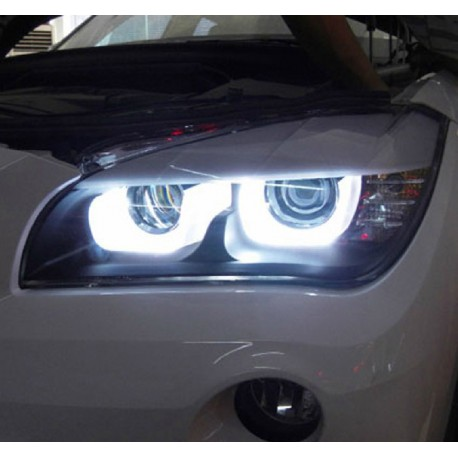 phares led angel eyes 3d pour bmw x1 e84 led 3d angel eyes a seule. Black Bedroom Furniture Sets. Home Design Ideas