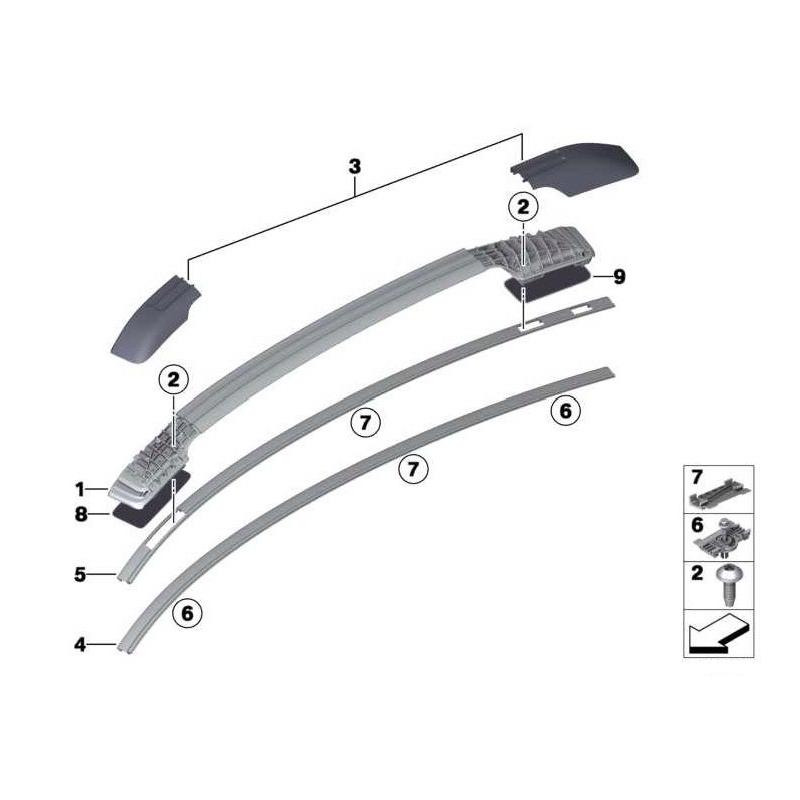 barres de toit en aluminium pour bmw x6 barre en aluminium couleur. Black Bedroom Furniture Sets. Home Design Ideas