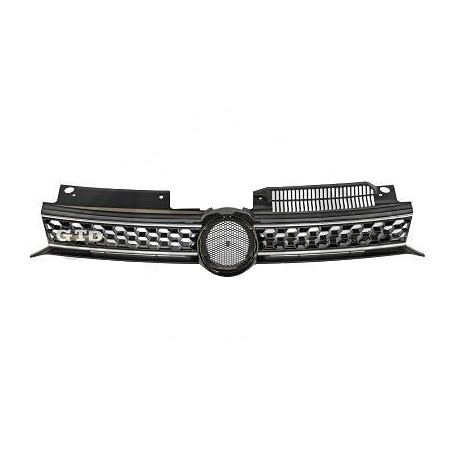 grille de calandre look gtd pour volkswagen golf 6 avec bordure gri. Black Bedroom Furniture Sets. Home Design Ideas