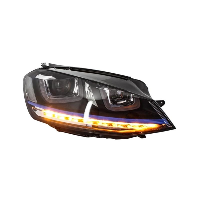 phares led look gte pour volkswagen golf 7 avec feux. Black Bedroom Furniture Sets. Home Design Ideas