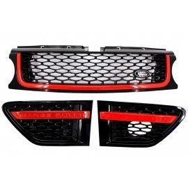 Pack Calandre Look Autobiography noir rouge pour Range Rover Sport 2010-2013