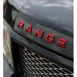 LETTRAGE 3D ROUGE MATE POUR RANGE ROVER