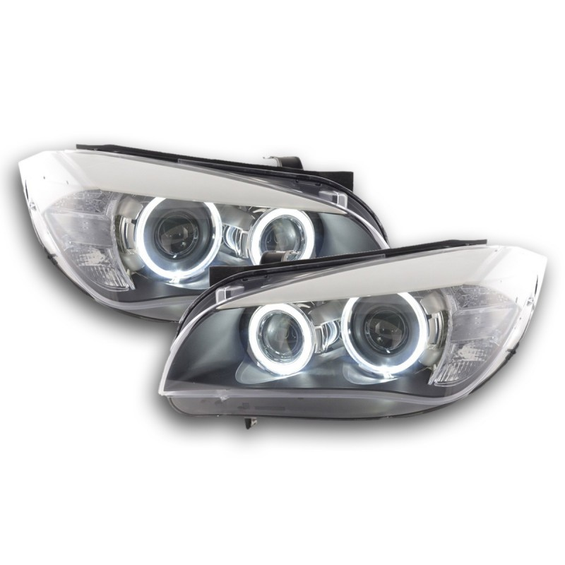 phares led angel eyes pour bmw x1 e84 led angel eyes a seulement 4. Black Bedroom Furniture Sets. Home Design Ideas
