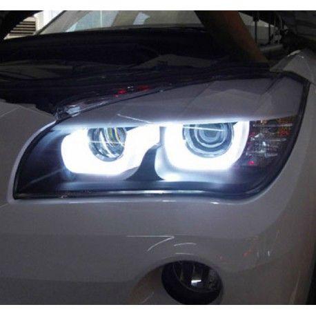 phares led angel eyes 3d pour bmw x1 e84 led 3d angel eyes. Black Bedroom Furniture Sets. Home Design Ideas