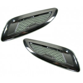 Prises d'air capot factices chrome pour Range Rover Evoque