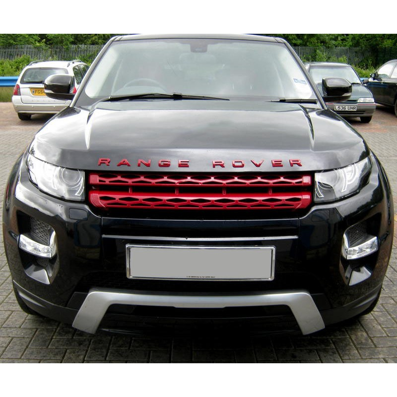 calandre rouge pour range rover evoque calandre look dynamic pour e. Black Bedroom Furniture Sets. Home Design Ideas