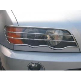 Protège phare Chrome inox pour BMW X5