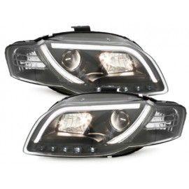 Paire de phares LED + Light BAR pour Audi A4 2004-2007