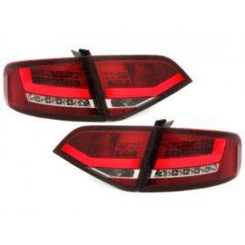 Feux arrières LED Lightbar rouge / blanc Audi A4 BERLINE 2007-2011