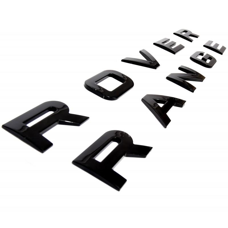 lettrage 3d noir pour range rover lettrage range rover de couleur n. Black Bedroom Furniture Sets. Home Design Ideas