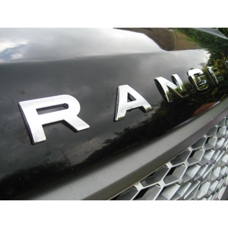 lettrage 3d chrome pour range rover lettrage couleur