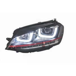 PHARES LED LOOK GTI POUR VOLKSWAGEN GOLF 7