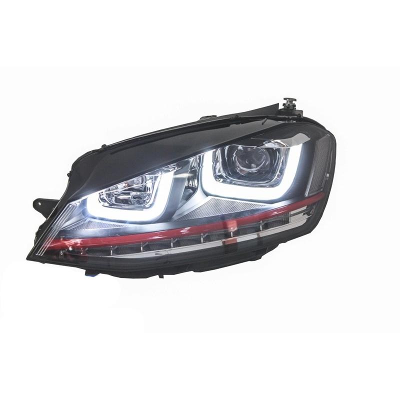 phares led look gti pour volkswagen golf 7 avec feux diurnes led d. Black Bedroom Furniture Sets. Home Design Ideas