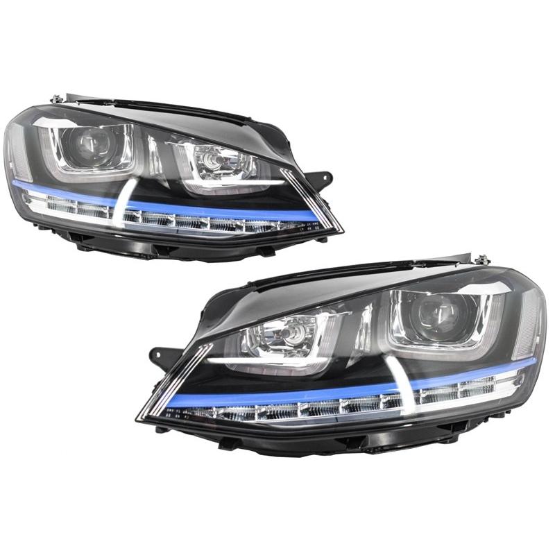 phares led look gte pour volkswagen golf 7 avec feux diurnes en de. Black Bedroom Furniture Sets. Home Design Ideas
