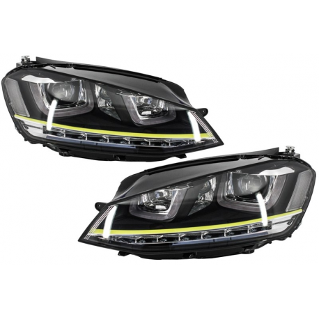 phares led look r400 pour volkswagen golf 7 avec feux diurnes desi. Black Bedroom Furniture Sets. Home Design Ideas