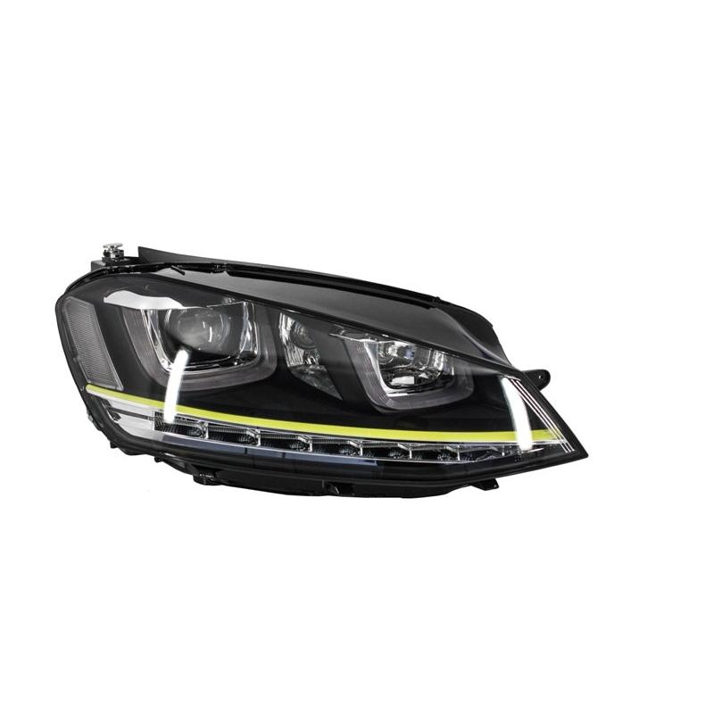 phares led look r400 pour volkswagen golf 7 avec feux. Black Bedroom Furniture Sets. Home Design Ideas