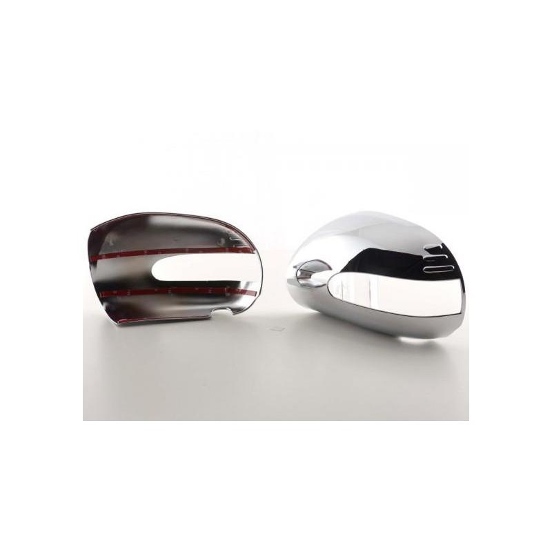 coque de retroviseur chrome pour mercedes ml w164 paire de coques c. Black Bedroom Furniture Sets. Home Design Ideas