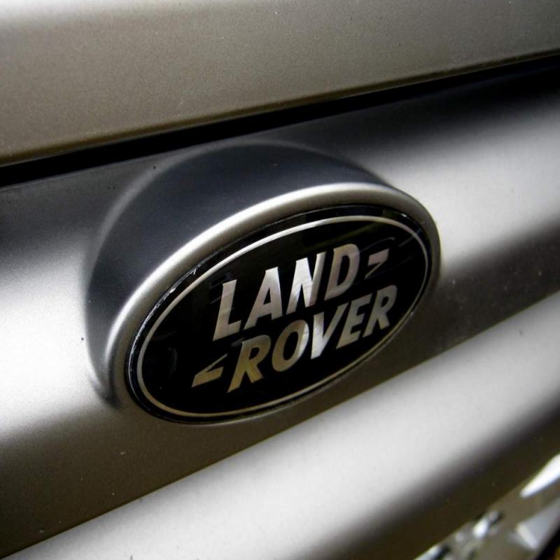 badge logo land rover noir  argent ovale logo land rover