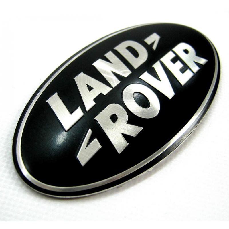 badge logo land rover noir et argent ovale logo land rover look sup. Black Bedroom Furniture Sets. Home Design Ideas