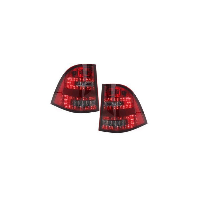 feux led rouge teint pour mercedes ml w163 paire de feux arri re. Black Bedroom Furniture Sets. Home Design Ideas