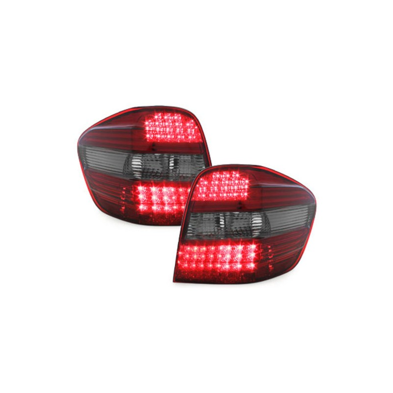 feux arriere led pour mercedes ml w164 version red crystal led po. Black Bedroom Furniture Sets. Home Design Ideas