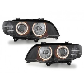 Phares Angel eyes LED pour BMW X5 E53 99-03
