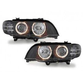 Phares Angel eyes LED pour BMW X5 E53 99-03