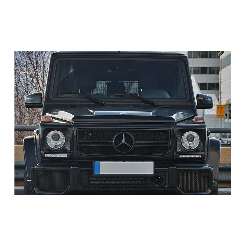 calandre full noir look g65 amg pour mercedes classe g w463 grille. Black Bedroom Furniture Sets. Home Design Ideas