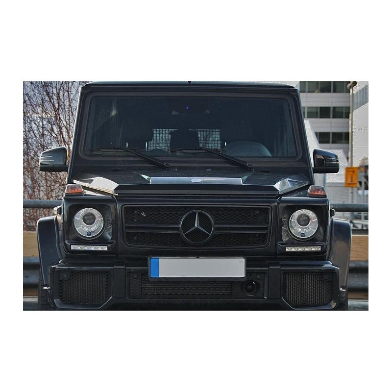 calandre full noir look g65 amg pour mercedes classe g w463 grille. Black Bedroom Furniture Sets. Home Design Ideas