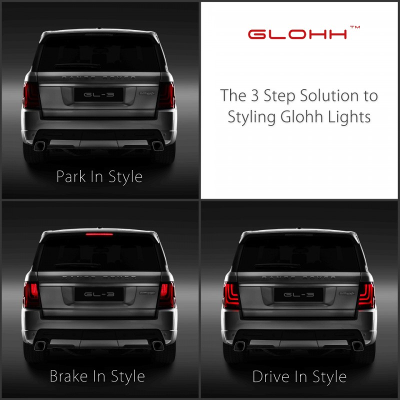 feux led glohh gl 3 dynamic pour range rover sport feux led glohh. Black Bedroom Furniture Sets. Home Design Ideas