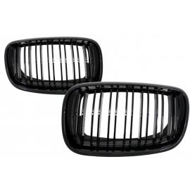 Grilles Calandre Double Noir Brillante Look M Pour BMW X5 X6