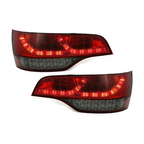 feux arriere led rouge blanc fume pour audi q7 05 09 paire de feu. Black Bedroom Furniture Sets. Home Design Ideas