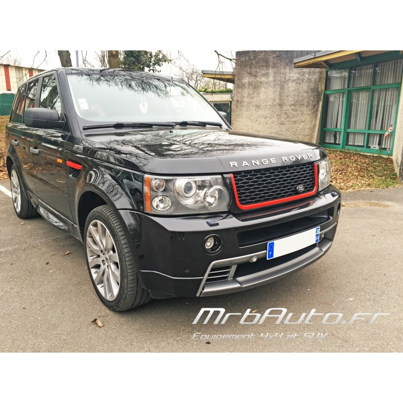 pack calandre noir rouge look autobiography pour range rover sport. Black Bedroom Furniture Sets. Home Design Ideas