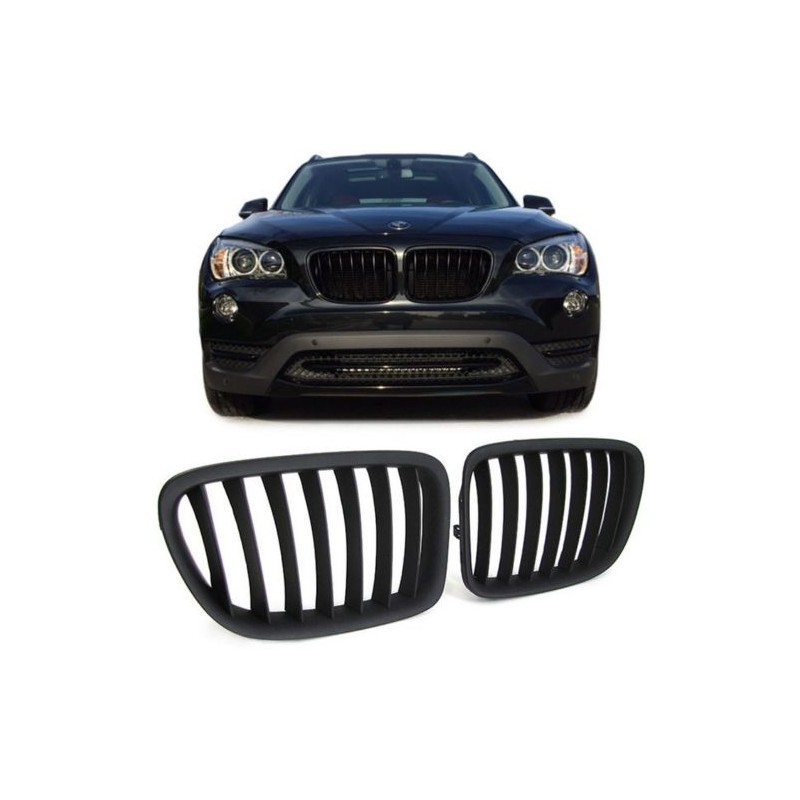 grilles de calandre noir pour bmw x1 e84 paire de grilles en abs de. Black Bedroom Furniture Sets. Home Design Ideas