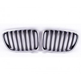Grilles de calandres Chrome Noir pour BMW X1 E84