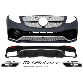 KIT CARROSSERIE LOOK GLE63 AMG POUR MERCEDES GLE W166