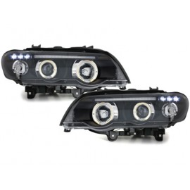 Phares Angel eyes LED BMW X5 e53 1999-2003