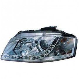 Paire de phares avant + Light bar intégrés pour Audi A3 8P 03-08