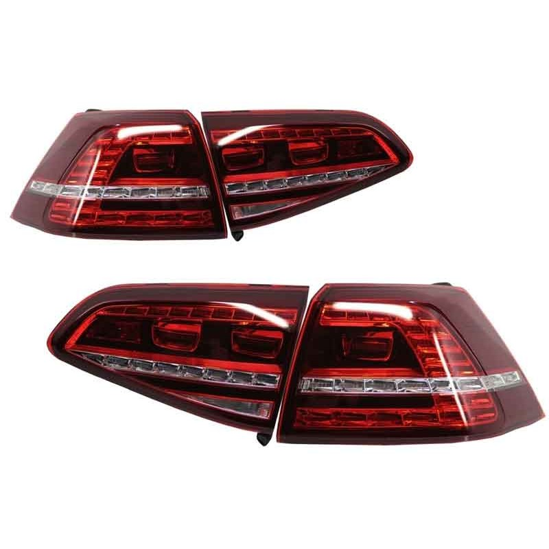 feux arriere led pour volkswagen golf 7 look gti branchement plug. Black Bedroom Furniture Sets. Home Design Ideas