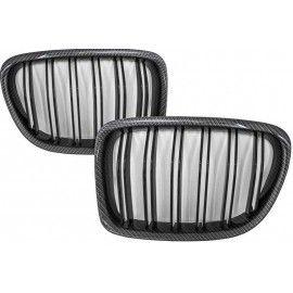 Grilles de calandre double Noir Brillante pour BMW X1 E84