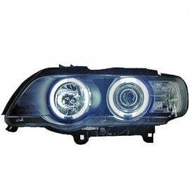Phares Angel eyes Noir pour BMW X5 E53 99-03