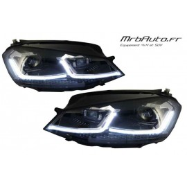 PHARES LED LOOK R POUR VOLKSWAGEN GOLF 7