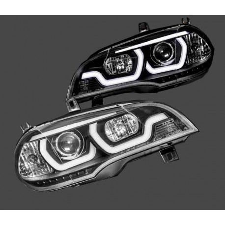 PHARES NOIR XENON LED LOOK FACELIFT POUR BMW X5 E70