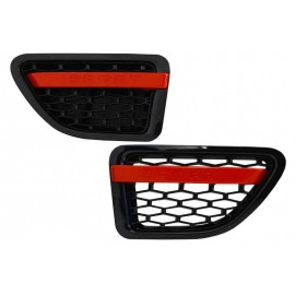 GRILLES LATERALES BLACK RED POUR RANGE ROVER SPORT