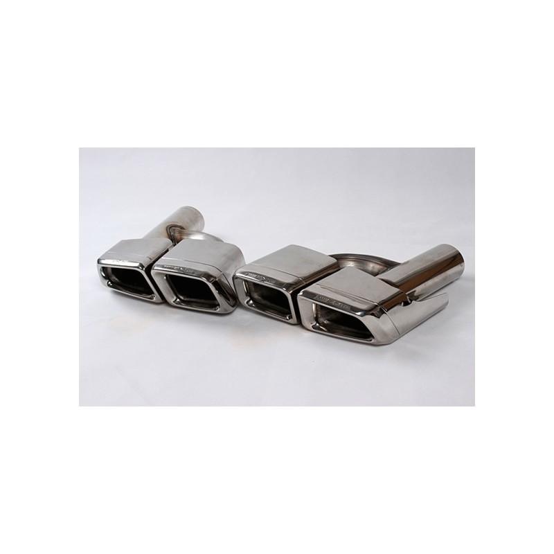 double sortie d 39 echappement amg design pour mercedes ml w166 double. Black Bedroom Furniture Sets. Home Design Ideas