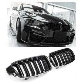 CALANDRE DOUBLE NOIR BRILLANTE M DESIGN POUR BMW F30 SERIE 3