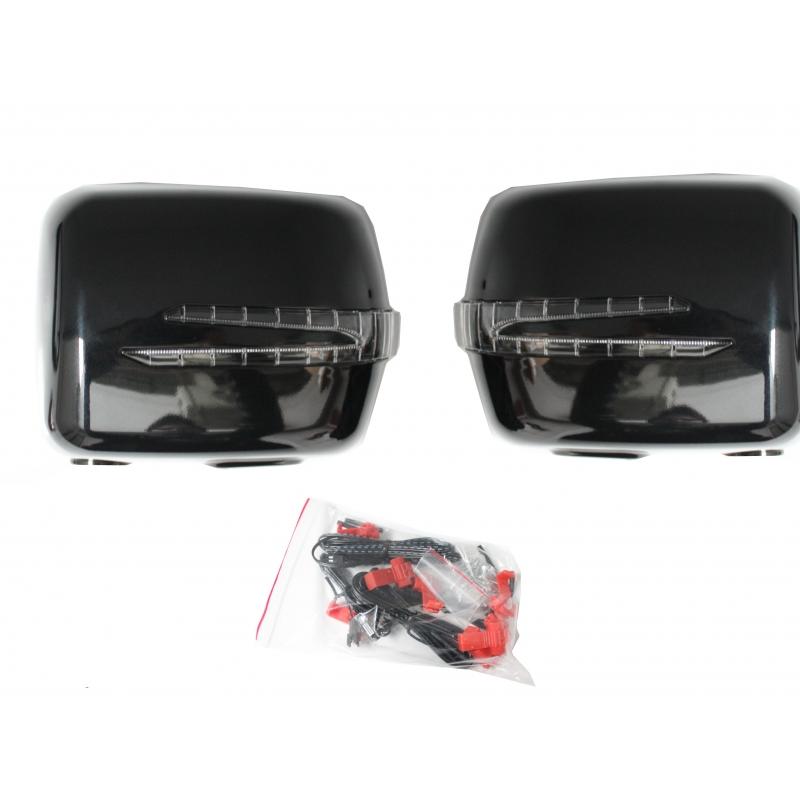 coques de retroviseur noir avec clignotant led pour mercedes classe. Black Bedroom Furniture Sets. Home Design Ideas