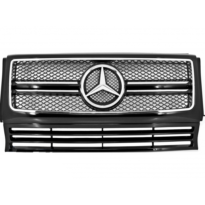 calandre noir look g65 amg pour mercedes classe g w463 grille finit. Black Bedroom Furniture Sets. Home Design Ideas